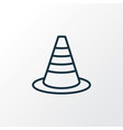 warning cone icon line symbol premium quality vector image