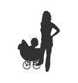 woman with baby vector image vector image