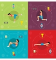 Workout For Active Woman Concept vector image vector image