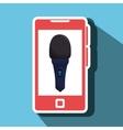 smartphone microphone speaker vector image