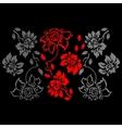 Floral Pattern on a Black Background vector image