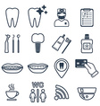 16 line of dental icons Isolated vector image