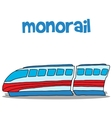 art of monorail hand draw vector image