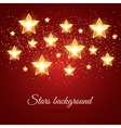 Background with Glowing Stars vector image vector image