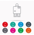 Beach changing cabin icon Human symbol vector image vector image