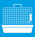 cage for birds icon white vector image