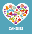 candies and caramel sweets poster vector image