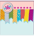 card with ribbons vector image