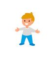 child a little boy is standing isolated flat vector image