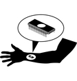 chip in arm vector image vector image