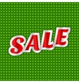 Christmas sale message vector image vector image