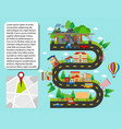 city map with buildings and roads vector image vector image