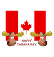 conception on canada day festive elk against the vector image
