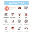 copywriting - line design icons set vector image vector image