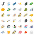 corporate icons set isometric style vector image vector image