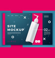 cosmetic pump bottle modern site template vector image