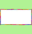 creative rectangle border frame made of colorful vector image