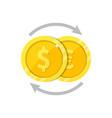 currency exchange symbol flat vector image vector image