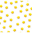 cute yellow stars pattern with isolated white vector image