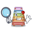 detective toy xylophone on cartoon childrens vector image vector image