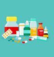 different medical pills vector image