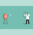 doctor or medical research staff shooting vaccine vector image vector image
