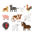 Domestic animal flat icons vector image vector image
