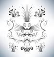 Elegant floral designs vector image