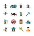 Exterminator Pest Control Flat Icons Set vector image vector image