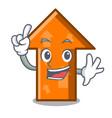 finger arrow mascot cartoon style vector image