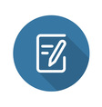 Flat Document Icon Flat Design vector image