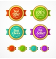 flat Vintage Labels template set vector image