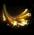 flying golden comets vector image vector image