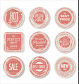 grounge round paper stickers 2 vector image vector image