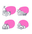 hand drawn spa elements stickers vector image vector image
