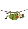 hanging scout vector image