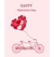 Happy Valentines Day bicycle background vector image vector image