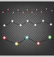 holiday light garlands clipart isolated on vector image