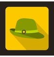 Hunter hat icon flat style vector image