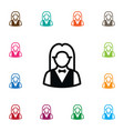 isolated girl icon croupier element can be vector image
