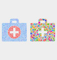 medical case mosaic icon triangles vector image vector image