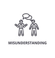 misunderstanding thin line icon sign symbol vector image