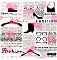 Newspaper fashion background vector image vector image