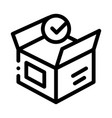opened carton box approved element icon vector image vector image