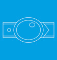 oval shaped buckle icon outline style vector image vector image