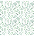 pattern from leaves and plants vector image vector image