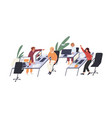 people having fun and entertaining in office vector image vector image