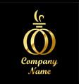 perfume logo vector image vector image