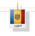 photo of moldova flag vector image vector image