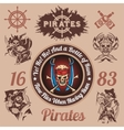 Pirate themed design elements - set vector image vector image